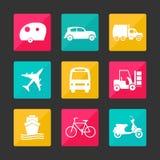 Iconos del transporte de la colección Imagen de archivo libre de regalías