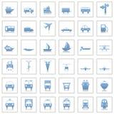 Iconos del transporte fijados Fotos de archivo