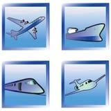 Iconos del transporte fijados. Imágenes de archivo libres de regalías