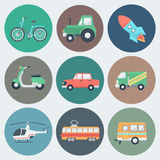 Iconos del transporte fijados Fotografía de archivo libre de regalías
