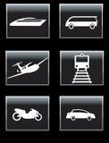 Iconos del transporte fijados. Foto de archivo libre de regalías