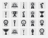 Iconos del trofeo Imágenes de archivo libres de regalías