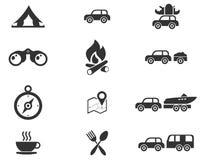 Iconos del turismo y del viaje Foto de archivo libre de regalías