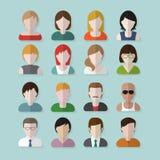 Iconos del userpics de la gente Imagen de archivo libre de regalías