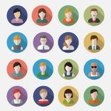 Iconos del userpics de la gente Fotos de archivo