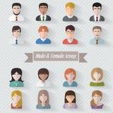Iconos del userpics de la gente Fotografía de archivo
