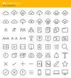 Iconos del uso de la nube stock de ilustración