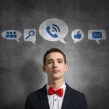 Iconos del uso del medios interfaz Imagen de archivo