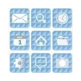 Iconos del uso del teléfono móvil Fotos de archivo libres de regalías