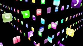 Iconos del uso que entrelazan
