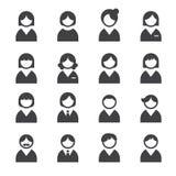 Iconos del usuario Imagen de archivo libre de regalías
