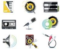 Iconos del vídeo del vector Fotografía de archivo libre de regalías