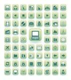 Iconos del vector Stock de ilustración