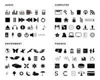 Iconos del vector Imagen de archivo