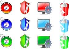Iconos del vector. stock de ilustración