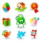 iconos del vector Imagen de archivo libre de regalías