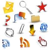 Iconos del vector 3d Imágenes de archivo libres de regalías