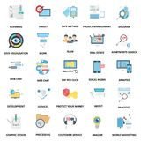 Iconos del vector del color de los conceptos del negocio fijados ilustración del vector