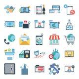 Iconos del vector del color de los conceptos del negocio fijados libre illustration