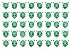 Iconos del vector de caras extranjeras sonrientes Imágenes de archivo libres de regalías