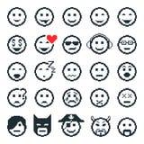 Iconos del vector de caras sonrientes Arte del pixel Imágenes de archivo libres de regalías