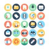 Iconos 3 del vector de Internet Imagen de archivo