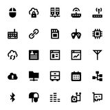 Iconos 5 del vector de Internet, del establecimiento de una red y de la comunicación Fotos de archivo libres de regalías
