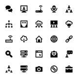Iconos 4 del vector de Internet, del establecimiento de una red y de la comunicación Imágenes de archivo libres de regalías