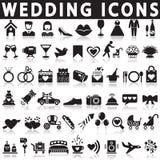 Iconos del vector de la boda fijados ilustración del vector