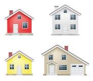 Iconos del vector de la casa fijados imagen de archivo
