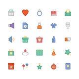 Iconos 1 del vector de la celebración y del partido Fotografía de archivo libre de regalías