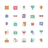 Iconos 6 del vector de la celebración y del partido Fotos de archivo libres de regalías