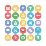 Iconos 6 del vector de la celebración y del partido Imagen de archivo libre de regalías