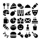Iconos 3 del vector de la celebración y del partido ilustración del vector