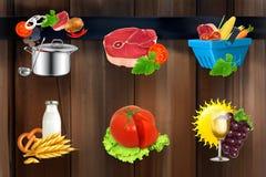 Iconos del vector de la comida ilustración del vector