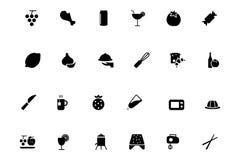 Iconos 4 del vector de la comida Fotografía de archivo libre de regalías