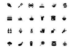 Iconos 3 del vector de la comida Imagenes de archivo