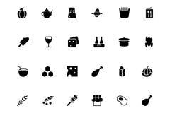 Iconos 5 del vector de la comida Fotos de archivo
