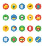 Iconos 3 del vector de la comida Imagen de archivo
