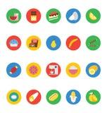 Iconos 6 del vector de la comida Imagen de archivo libre de regalías