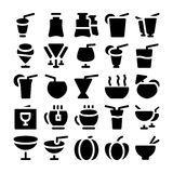 Iconos 8 del vector de la comida Imágenes de archivo libres de regalías