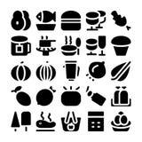 Iconos 5 del vector de la comida Foto de archivo