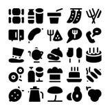 Iconos 4 del vector de la comida Imágenes de archivo libres de regalías