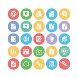 Iconos 3 del vector de la comunicación Fotografía de archivo libre de regalías