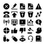 Iconos 6 del vector de la comunicación Fotos de archivo