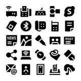Iconos 8 del vector de la comunicación Foto de archivo libre de regalías
