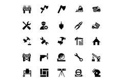 Iconos 4 del vector de la construcción Imagenes de archivo