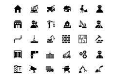 Iconos 1 del vector de la construcción Fotografía de archivo libre de regalías