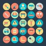 Iconos 3 del vector de la construcción Imagenes de archivo
