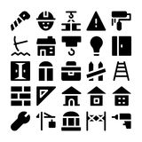 Iconos 8 del vector de la construcción Imagen de archivo